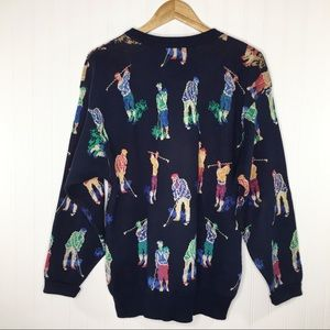 Tricots St Raphael Vintage Intarsia Golfer Sweater
